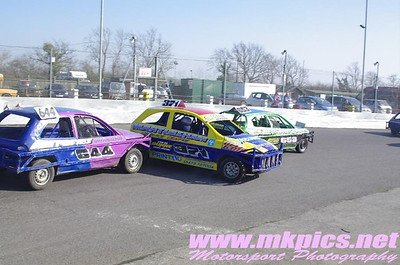 1300 Saloon Stockcars, Northampton, 9 March 2014